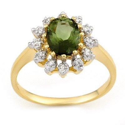 Ring 1.62ctw Diamond & Green Tourmaline