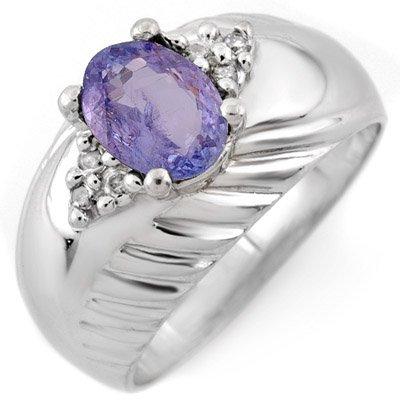 Famous 1.15ct ACA Certified Diamond & Tanzanite Ring