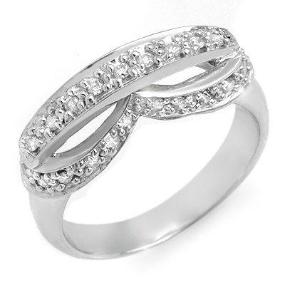 Certified Anniversary 0.35ctw Diamond Ring White Gold