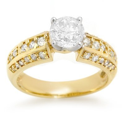 Solitaire 1.70ctw ACA Certified Diamond Ring 14K Gold