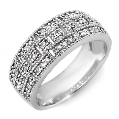 ACA Certified 0.35ctw Diamond Eternity Band White Gold