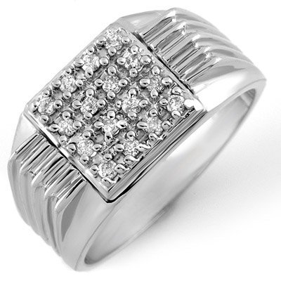 Famous 0.25ctw ACA Certified Diamond Men's Ring Gold