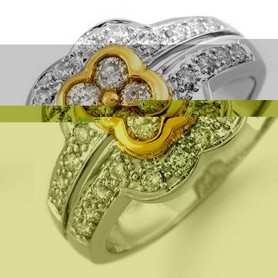 Right-Hand 0.65ctw ACA Certified Diamond Ring Gold