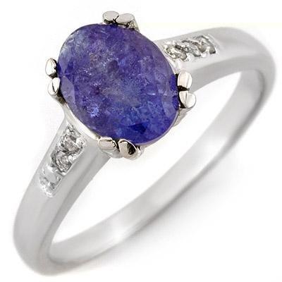 Fine 1.35ctw ACA Certified Diamond & Tanzanite Ring
