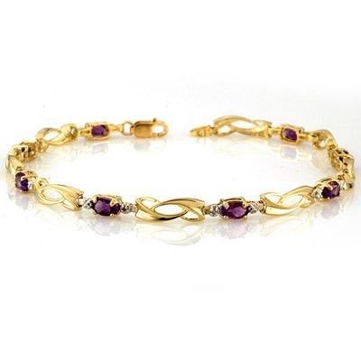 Bracelet 2.02ctw ACA Certified Diamond & Amethyst