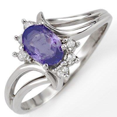 Fine 0.70ctw ACA Certified Diamond & Tanzanite Ring