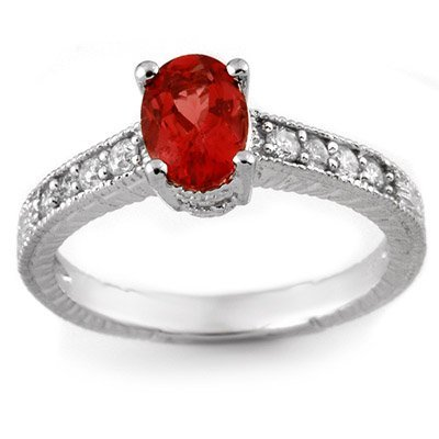 Fine 1.50ctw Certified Diamond & Pink Tourmaline Ring