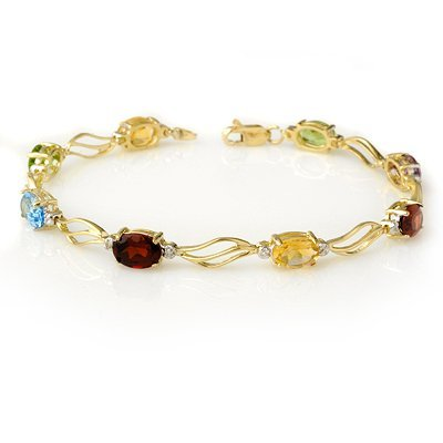 Bracelet 8.02ctw ACA Certified Diamond & Multi-Sapphire