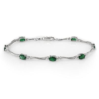 Bracelet 3.52ctw ACA Certified Diamond & Emerald