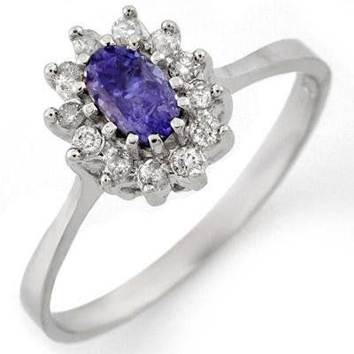 Fine 0.60ctw Diamond & Tanzanite Ring