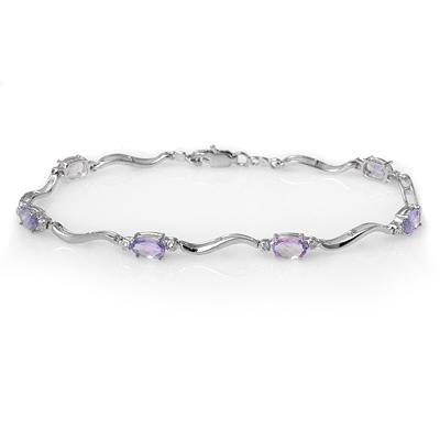 ACA Certified 4.02ctw Diamond & Tanzanite Bracelet
