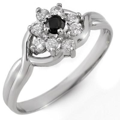 Fine 0.33ct ACA Certified White & Black Diamond Ring