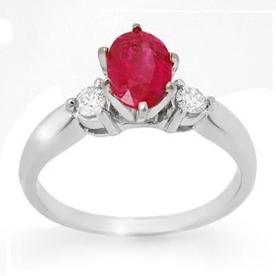 Anniversary 1.45ctw Certified Diamond & Ruby Ring 14K W