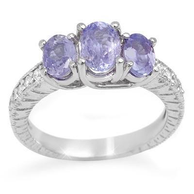 Fine 2.50ctw ACA Certified Diamond & Tanzanite Ring