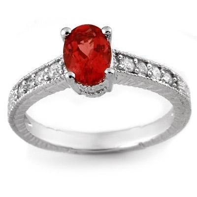 Fine 1.50ctw Certified Diamond & Pink Tourmaline Ring