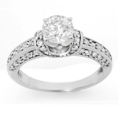 Solitaire 1.60ctw ACA Certified Diamond Bridal Ring