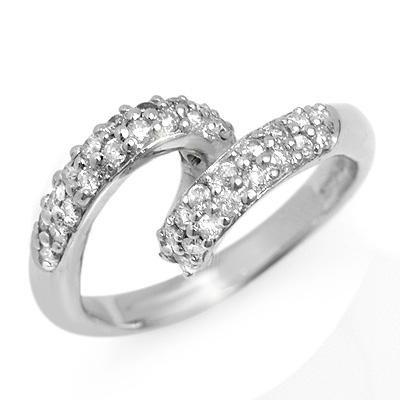 Anniversary 0.60ct Diamond Ladies Ring Solid White Gold