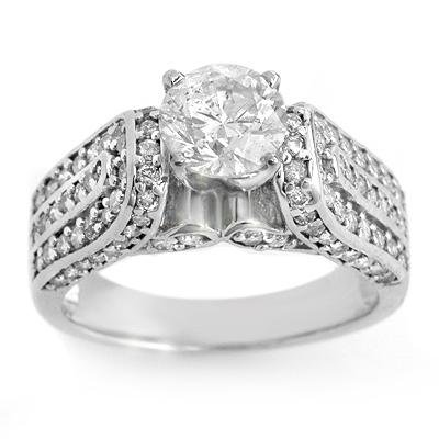Solitaire 2.25ct ACA Certified Diamond Bridal Ring Gold