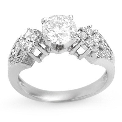 Bridal 1.50ctw Certified Diamond Anniversary Ring Gold