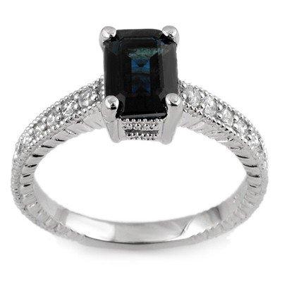 Fine 2.65ctw ACA Certified Diamond & Blue Sapphire Ring