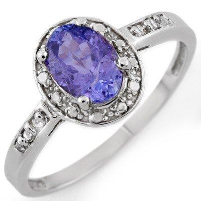 Fine 1.10ctw ACA Certified Diamond & Tanzanite Ring