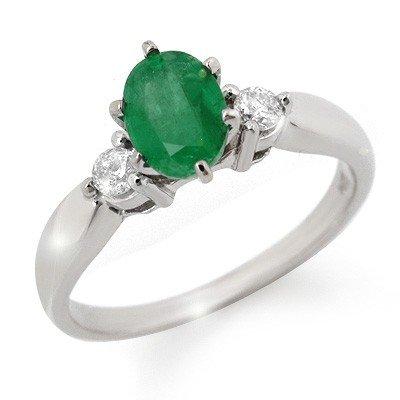 Fine 1.20ctw ACA Certified Diamond & Emerald Ring 14K