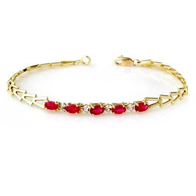 Famous 2.0ctw ACA Certified Ruby Bracelet White Gold