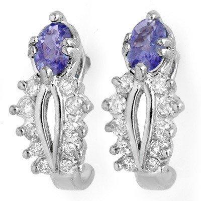 Earrings 0.80ctw Diamond & Tanzanite