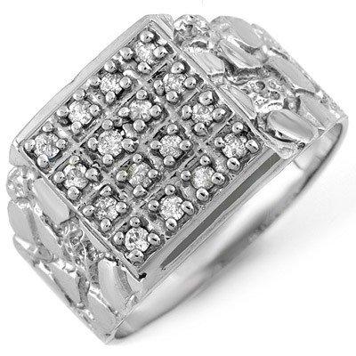 Famous 0.50ctw ACA Certified Diamond Men's Ring Gold