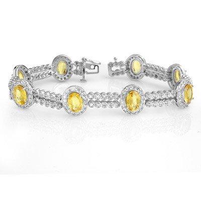 Bracelet 17.25ctw Certified Diamond & Yellow Sapphire