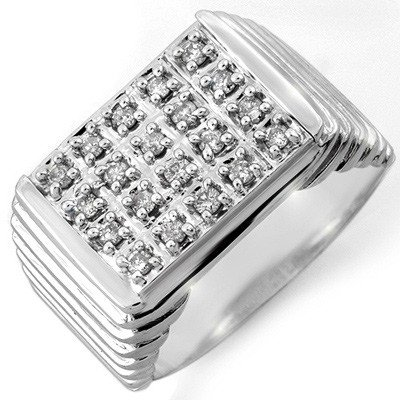 Famous 1.0ctw ACA Certified Diamond Men's Ring Gold