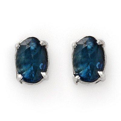 3.00ctw Sapphire Stud Earrings White Gold