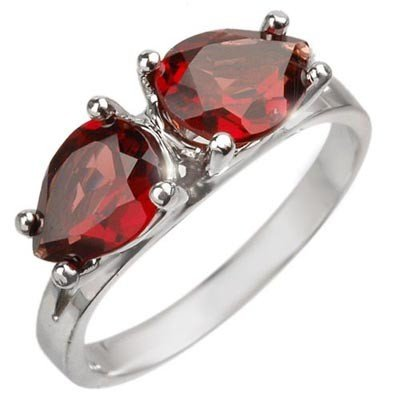 Famous 2.25ctw Certified Garnet Ring White Gold