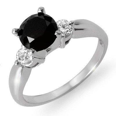 ACA Certified 1.65ct White/ Black Diamond Ring 14K Gold
