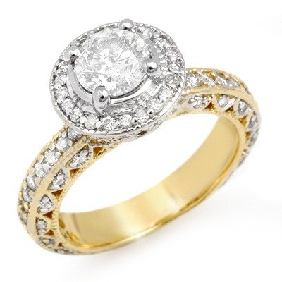Solitaire 2.0ctw ACA Certified Diamond Ring 14K Gold