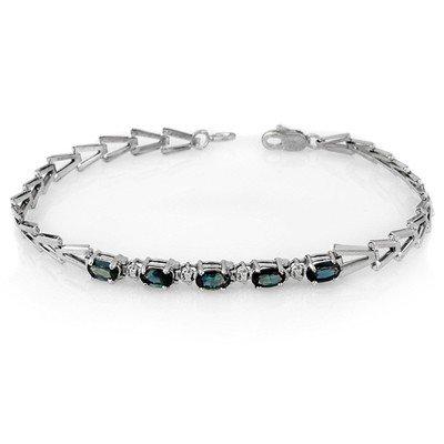 ACA Certified 2.0ctw Blue Sapphire Tennis Bracelet Gold