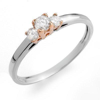 ACA Certified 0.33ctw Diamond Ring 14K Two-Tone Gold