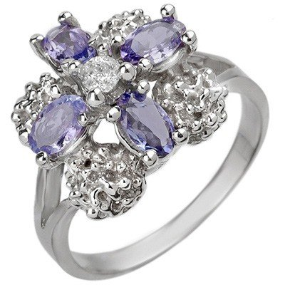 Fine 0.83ctw ACA Certified Diamond & Tanzanite Ring
