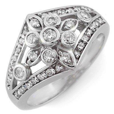 Right-Hand 0.75ct ACA Certified Diamond Ring White Gold