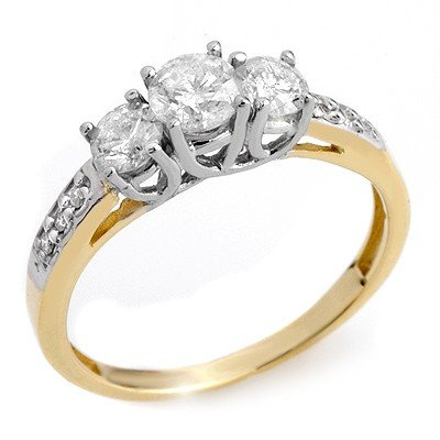 Famous 1.0ctw ACA Certified Diamond Ring Two-Tone Gold