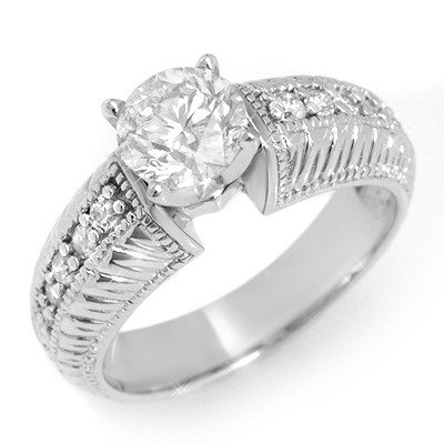 Solitaire 1.26ctw ACA Certified Diamond Ring 14K Gold