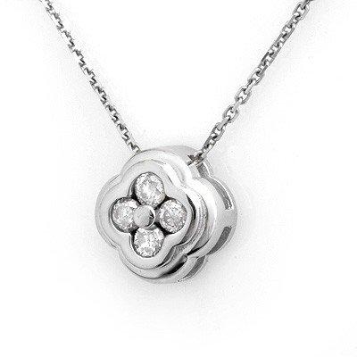 Genuine 0.25ctw Diamond Necklace 14KT White Gold