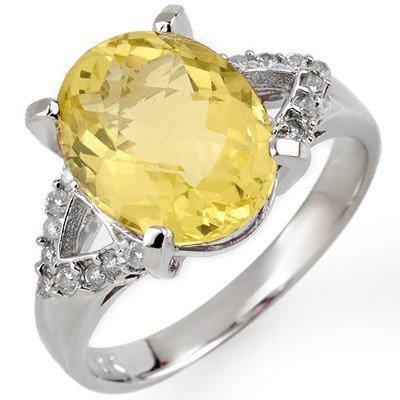 Fine 5.20ct ACA Certified Diamond & Lemon Topaz Ring