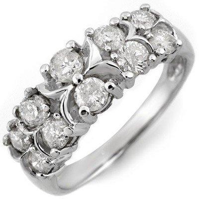 ACA Certified 1.25ctw Diamond Fashion Ring White Gold
