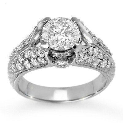 Bridal 2.20ctw Certified Diamond Anniversary Ring Gold