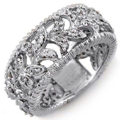 Bridal 1.0ctw ACA Certified Diamond Ring 14K White Gold