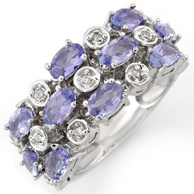 Fine 2.20ctw ACA Certified Diamond & Tanzanite Ring
