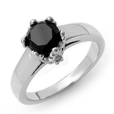 Certified 1.53ctw White & Black Diamond Ring 14K Gold