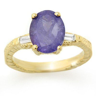 Fine 3.70ctw ACA Certified Diamond & Tanzanite Ring