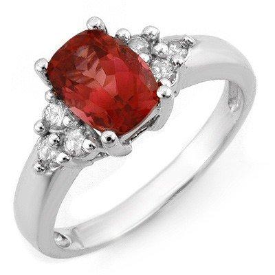Genuine 2.11 ctw Pink Tourmaline & Diamond Ring Gold